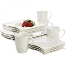 White Basics Motion Dinner Set, 16pc