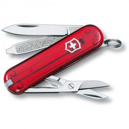 Classic SD Pocket Knife, Transparent Red