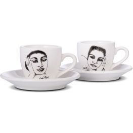 Short & Sweet Espresso Cup And Saucer, Set Of 2