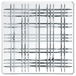 Square Lead-Free Crystal Platter, 28cm