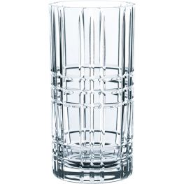 Square Lead-Free Crystal Longdrink Glasses, Set Of 4