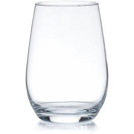 Bordeaux Set Of 4 Stemless Wine Glasses, 480ml