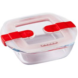 Cook & Heat Square Glass Roaster With Microwave Safe Lid