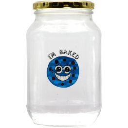 I'm Baked Glass Storage Jar, 1 Litre