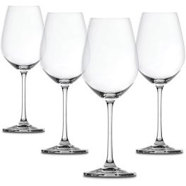 Salute Red Wine Glasses, Set Of 4