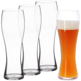 Beer Classics Tall Wheat Beer Glasses, Set Of 4