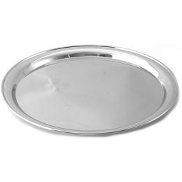 Stainless Steel Round Tray, 35cm