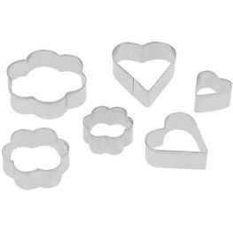 Flower & Heart Cookie Cutter Set, 6pc