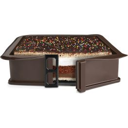 Non-Stick Detachable Silicone Square Cake Mould With Glass Base