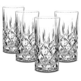 Noblesse Lead-Free Crystal Hiball Glasses, Set Of 4