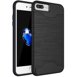 Shock Proof Dual Layer Armour Case With Stand And Card Slot For iPhone 7/8
