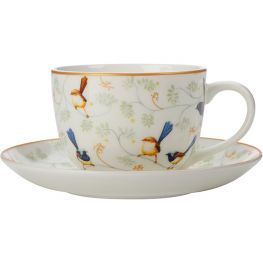 Cashmere Wrens & Friends Cup & Saucer