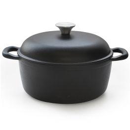 Gourmet Cast Iron Round Casserole, 3.6 Litre