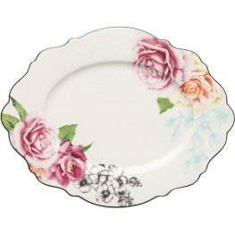 Wavy Rose Large Oval Platter
