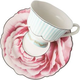 Wavy Rose Cup & Saucer