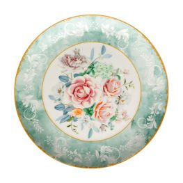Green Floral Side Plate, Set Of 4