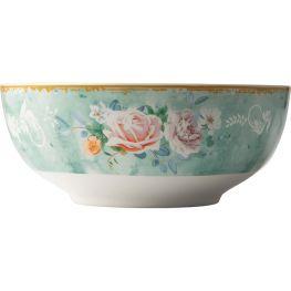 Green Floral Soup Bowl, Set Of 4