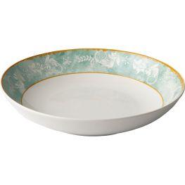 Green Floral Pasta Bowl, Set Of 4