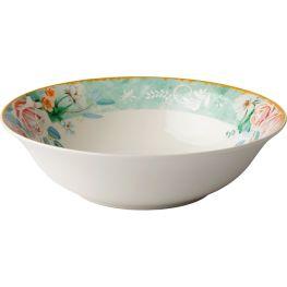Green Floral Salad Bowl