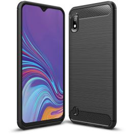 Carbon Fibre Style Armour Case For The Samsung Galaxy A10, Black