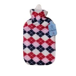 Hot water Bottle with Fleece cover 1.5 litre Checkered