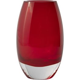 Red Glass Vase, 18cm