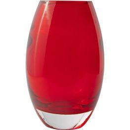 Red Glass Vase, 24cm