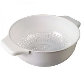 Twin Handled Colander, White, 28cm