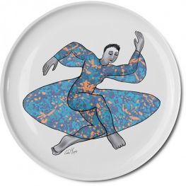Pop Art Low Bowl, Dancer, 32cm