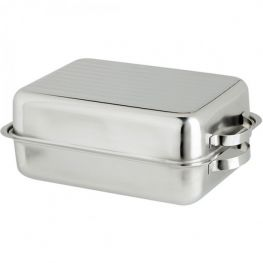 Stainless Steel Double Roasting Pan, 38cm
