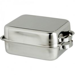 Stainless Steel Double Roasting Pan, 34.5cm