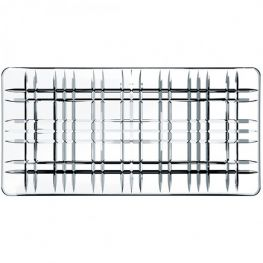 Square Rectangular Lead-Free Crystal Platter, 28cm