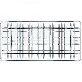 Square Rectangular Lead-Free Crystal Platter, 28cm