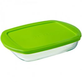 Cook & Store Shallow Rectangular Dish & Lid, 750ml