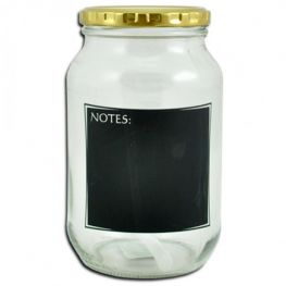 Jar With Notes, 1 Litre