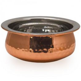 Copper Plated Hammered Handi Bowl, 12.5cm