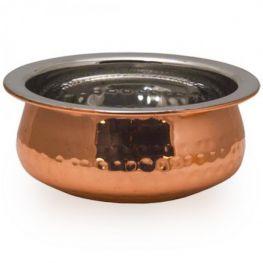 Copper Plated Hammered Handi Bowl, 12.5cm