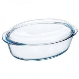 Essentials Oval Casserole Dish With Lid, 4 Litre