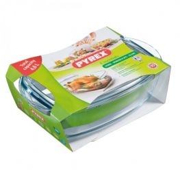 Essentials Rectangular Casserole Dish With Lid, 4.6 Litre