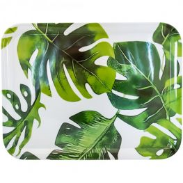 Melamine Rectangular Tray, Botanical, 43cm