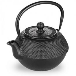 Oriental 720ml Cast Iron Tetsubin Teapot With Infuser, Negra