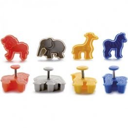 Ejector Cookie Cutter Set, 4pc, Safari
