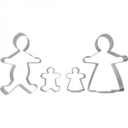 Accesorios Set Of 4 Family Cookie Cutters