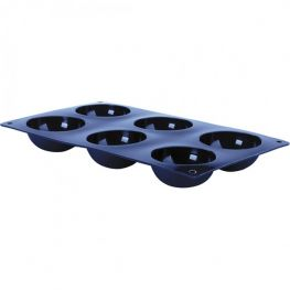 Blueberry 6 Cup Half Spheres Silicone Mould, 7cm