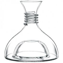 Crystal Decanter, Red & White, 1 Litre