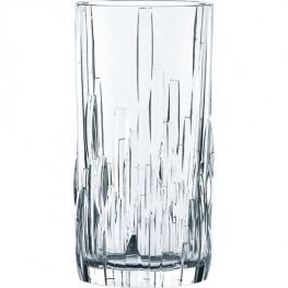 Shu Fa Lead-Free Crystal Longdrink Glasses, Set Of 4