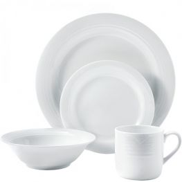 Arctic White Dinner Set, 16pc