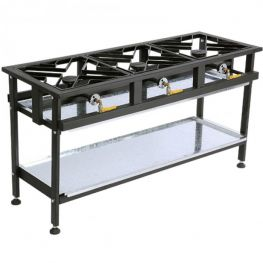 3 Burner Gas Boiling Table, Straight
