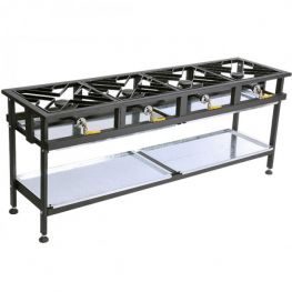 4 Burner Gas Boiling Table, Straight