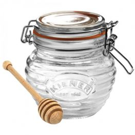 Clip Top Honey Jar & Drizzler, 400ml